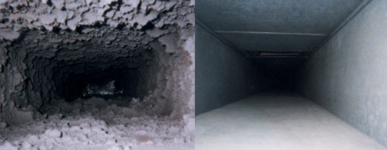 how to clean fiberglass ductwork